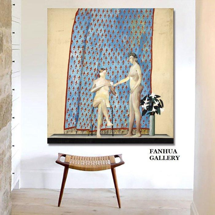 C - R - A - Z - Y - T - O - W - N David Hockney大衛霍克尼英國藝術家作品畫波普藝術立體主義當代藝術小眾人物掛畫
