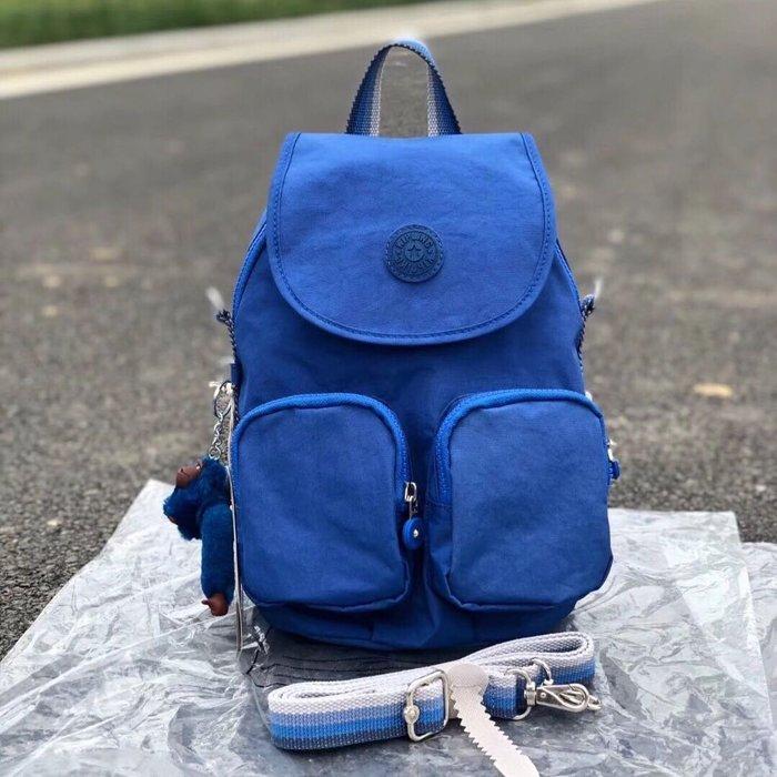 Kipling 猴子包 K23512  K12887 藍色 背帶滾邊 多用肩背斜背輕量雙肩後背包 多夾層 時尚經典 防水 限時優惠