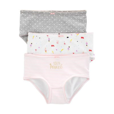 【Carter's】CS女童內褲3件組 灰粉白  F03191016-29