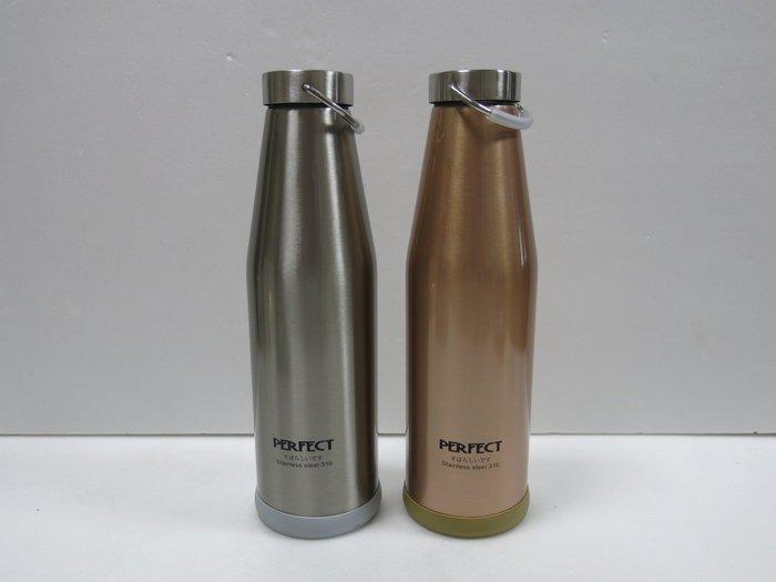 【兩支免運】「新款頂級316不銹鋼」PERFECT日式316不鏽鋼真空保溫瓶/單車壺900cc  /露營 理想牌/台灣製