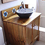 原木工坊~室內設計規劃 歐風實木洗手台