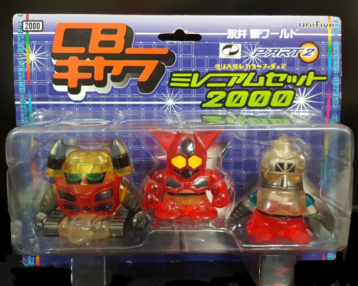 全新無拆封 永井豪 unifive 2000年 千禧年盒裝 透明蓋特款 無敵鐵金鋼 無敵鐵金剛