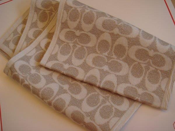 破盤清倉大降價!全新美國品牌 COACH 經典駝色 LOGO 美麗諾羊毛圍巾,低價起標無底價!本商品免運費!
