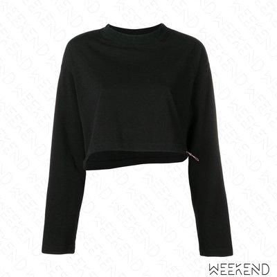 【WEEKEND】 UNRAVEL 短版 下擺抽繩 長袖 上衣 黑色 19春夏