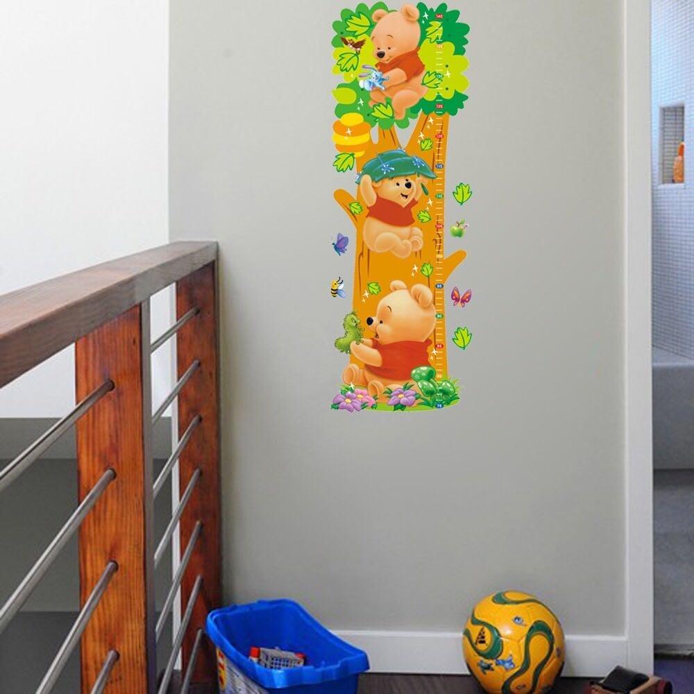 卡通熊🐻防水身高壁貼表