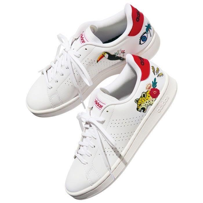 日本 adidas 愛迪達 超特別 老虎 大眼睛 鸚鵡 扶桑花 椰子樹 刺繡球鞋  22.5~24.5cm