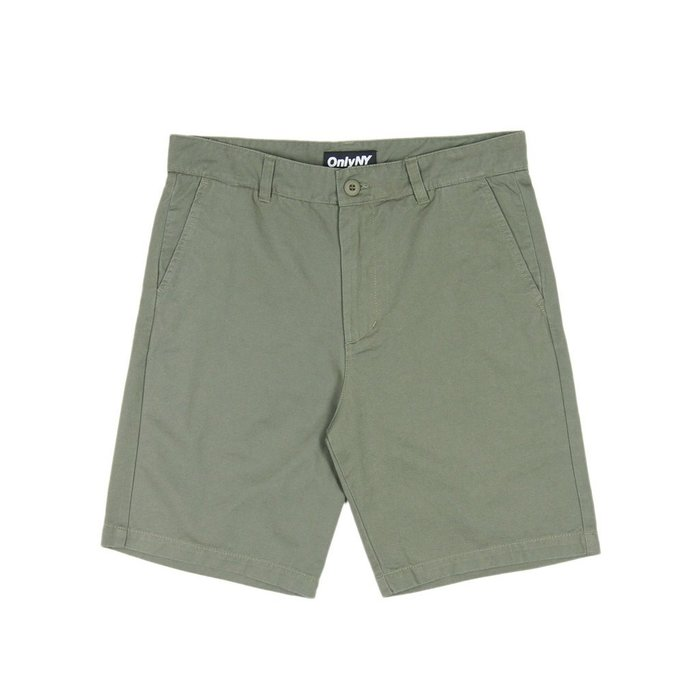 《 Nightmare 》ONLY NY Washed Chino Shorts - Olive
