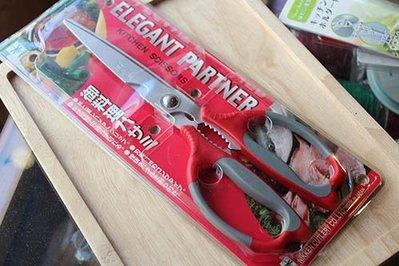(缺貨)日本NIKKEN多用途料理剪刀(紅)可夾核桃_76364◎日本.NIKKEN.多用途.料理.剪刀.料理剪.紅色
