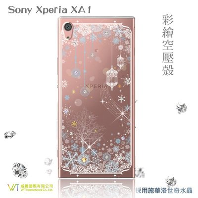【WT 威騰國際】WT® Sony Xperia XA1  施華洛世奇水晶 彩繪空壓殼-【映雪】