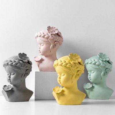 〖洋碼頭〗北歐現代簡約雕塑創意客廳樣板間藝術頭像裝飾拍攝道具擺件石膏像 bhm244