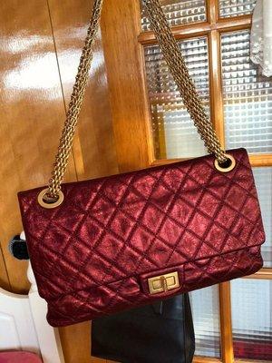 ×已售出× chanel 經典款金屬紅色方釦2.55復古包款美包 台中市