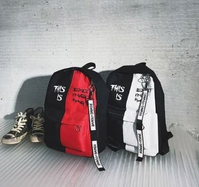 ღ~{ 現貨 }~ ღ帆布後背包 雙肩包 後背包 後背包 時尚簡約 背包 學院風 休閒後背包 書包