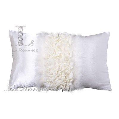 【芮洛蔓 La Romance】珍珠白絲質羽毛腰枕 / 床枕 / 靠枕