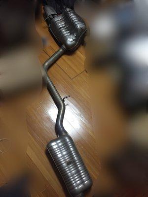 賓士W204-C250-原廠排氣管-中段消音包+尾桶