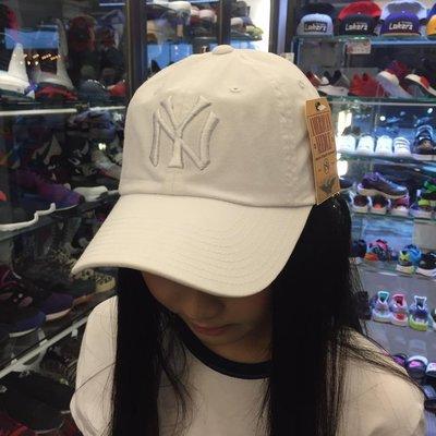 BEETLE AMERICA NEEDLE 老帽 紐約 洋基 NEW YORK TANKEES DAD 大聯盟  全白