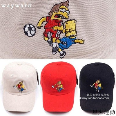 【星火運動】 WAYWARD SIMPSON 男女同款足球辛普森刺繡卡通