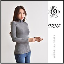 【ORNA 爾瑞菈】現貨 韓國製 韓國空運 基本款內搭素色柔棉高領T恤