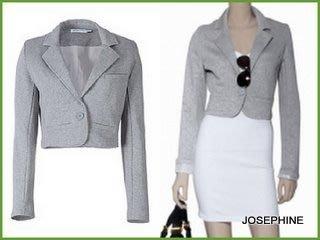 喬瑟芬【SEE BY CHLOE】2010春夏灰色棉質短版西裝外套~特價$6500