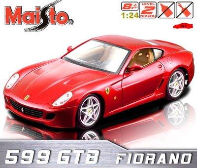 法拉利 FERRARI 599GTB-FIORANO《紅色》1:24 合金組裝模型車。原廠授權商品