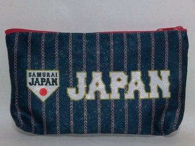 貳拾肆棒球-日本帶回-日職棒全明星侍JAPAN日本野球國家代表隊文具收納袋/日製