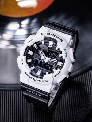 HG手錶代購~卡西歐G-SHOCK黑白熊貓潮汐溫度運動手錶GAX-100B-7A/1A 100A-7A