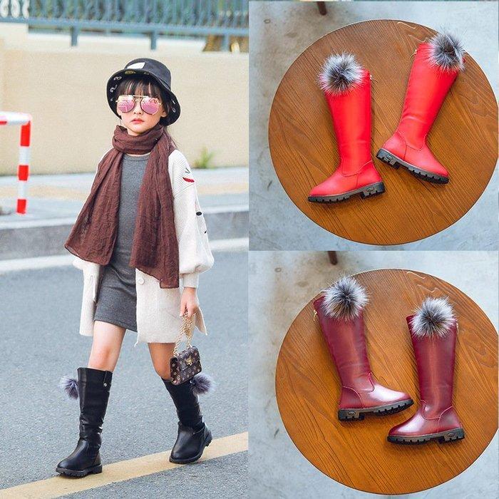 新款  兒童  靴子高幫 女童   韓版 公主靴學生長筒靴