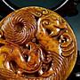 §【紫龍苑~玉器水晶藝品】§和闐玉/開門老玉牌.入沁.鈣化.老包漿~老陀工