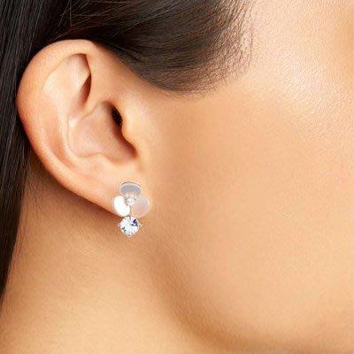 ╭☆包媽子店☆Kate Spade disco pansy earrings 天然母貝水晶花朵耳釘/耳環