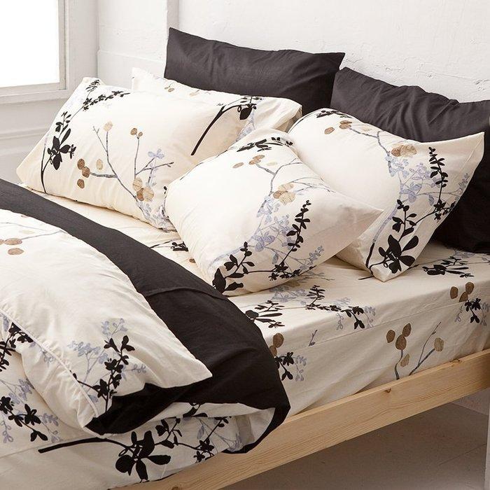 床包被套組 / 單人【京都物語】含一枕套,100%精梳棉,台灣製造,戀家小舖F01-AAS112