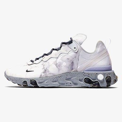 🅡'代購 Nike React Element 55 Kendrick Lamar Silver 白灰  大理石 CJ3312-001 男女