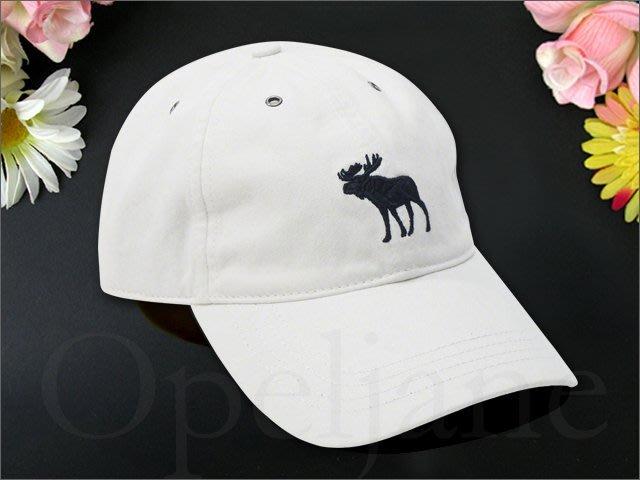 A&F Abercrombie & Fitch 新款 AF大麋鹿 LOGO白色 棒球帽 鴨舌帽男女適用 愛Coach包包