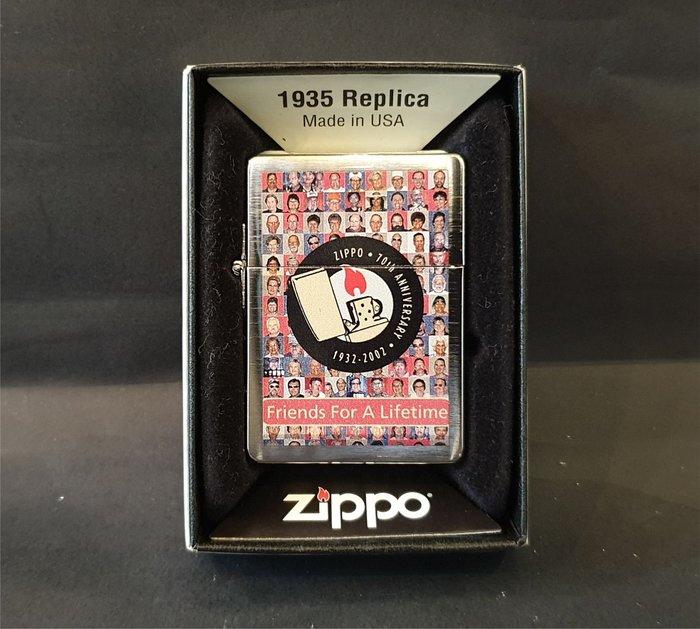 ONE*$1~日系*ZIPPO*1935《世界初複刻版 *70周年紀念》四周正方*銀塗層/彩繪