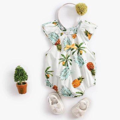嬰兒包屁衣鳳梨包屁衣連身裝無袖包屁衣