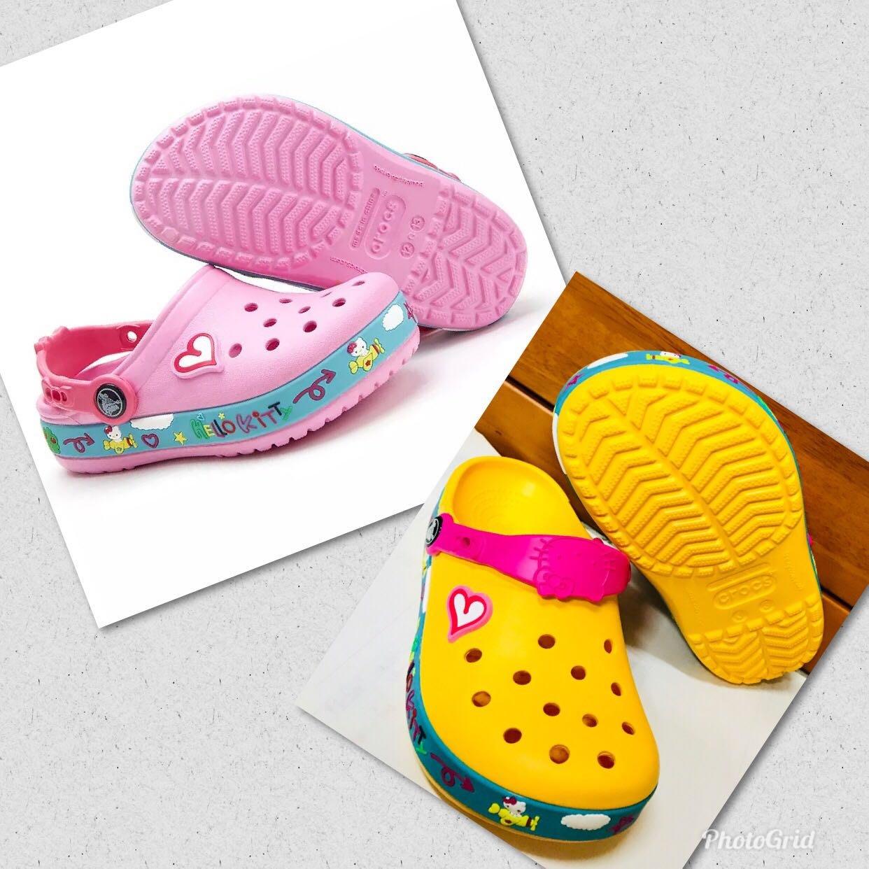 @@ 全新 Crocs 卡洛馳 飛行kitty 洞洞鞋 沙灘鞋 童 鞋尺碼 送鞋扣 @@