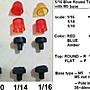 【喵喵模型坊】IMPACT 1/16 警示迴轉燈 紅色平頂 M5螺絲固定座 (16-RA-TF-M5)