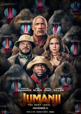 (電影海報) 野蠻遊戲 全面晉級 巨石強森 涅布拉 凱文哈特 好萊塢 喜劇 逃出叢林 動物 傑克布萊克 星際異工隊