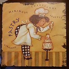 義大利風 廚師鐵皮畫 : 廚師 掛畫 鐵皮 畫 裝飾 家飾 居家 裝置