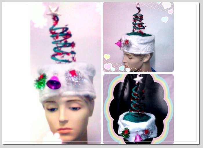 美聯企業  彈簧聖誕帽~綠色~~整組2頂100元~ 聖誕節用品 表演道具 迎新趴 變裝