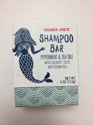 新品試賣 美國代購 Trader Joe's 薄荷茶樹 洗髮餅 洗髮皂 113g【TR0014】