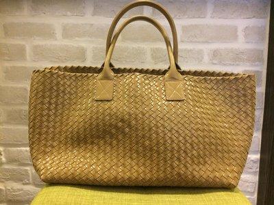 保證專櫃正品 BOTTEGA VENETA 全球限量經典款Cabat bag /BV編織包/ 手提包購物包