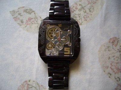 GUESS 帥氣 時尚 型男 黑色 鋼錶