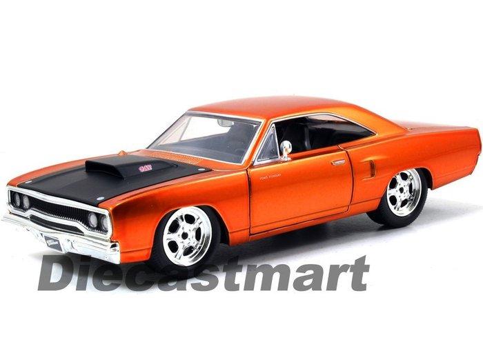 (I LOVE樂多)日本進口 Jada Plymouth Road Runner  玩命關頭 橘色車體 模型車