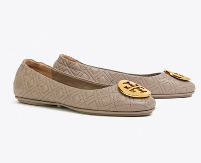 TORY MINNIE TRAVEL BALLET FLAT, QUILTED LEATHER
