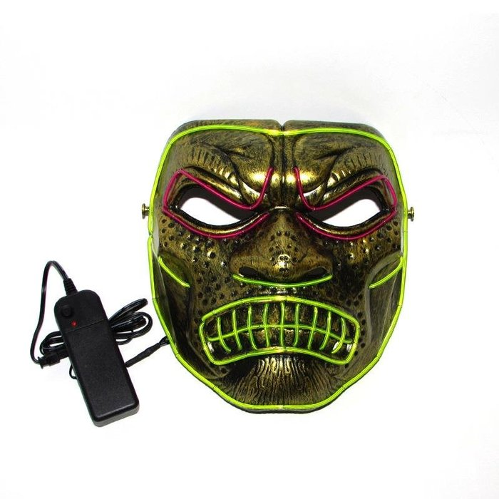 EL 冷光面具 斯巴達 300勇士 萬聖節 希臘 面具 眼罩 面罩 cosplay LED【A88000601】塔克百貨
