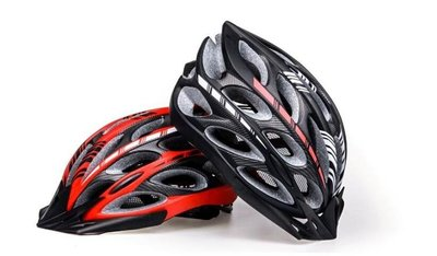 一體成型自行車騎行頭盔男女 單車山地車裝備公路車安全帽子