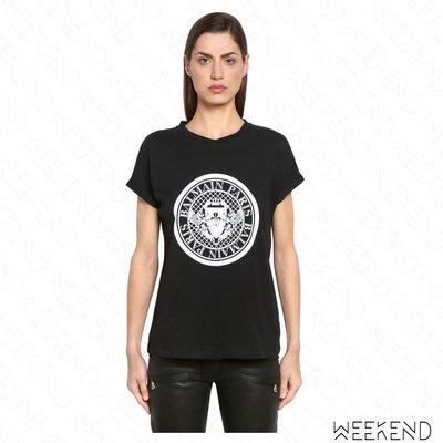 【WEEKEND】 BALMAIN 經典 短袖 T恤 上衣 黑色 18春夏新款
