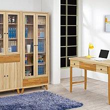 【南洋風休閒傢俱】書架 書櫃 書櫥 展示櫃 收納櫃 造形櫃 置物櫃系列-瑪莎栓木色4尺書桌 CY404-537