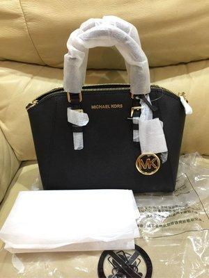《畢業禮物現貨》Michael Kors Ciara 新款黑色金字 手提/斜背/肩背三用包