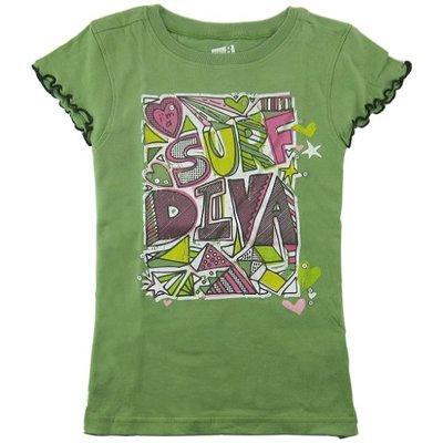 Crazy8 女孩亮片裝飾草綠色短袖棉T(S號) (46156) ~全新正品