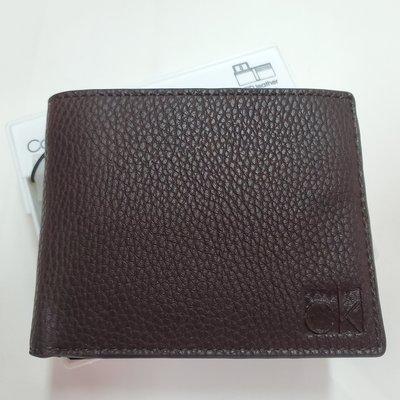 Calvin Klein Men's Pebble Leather Bifold Wallet 男士真皮銀包 附送禮盒 全新現貨正品